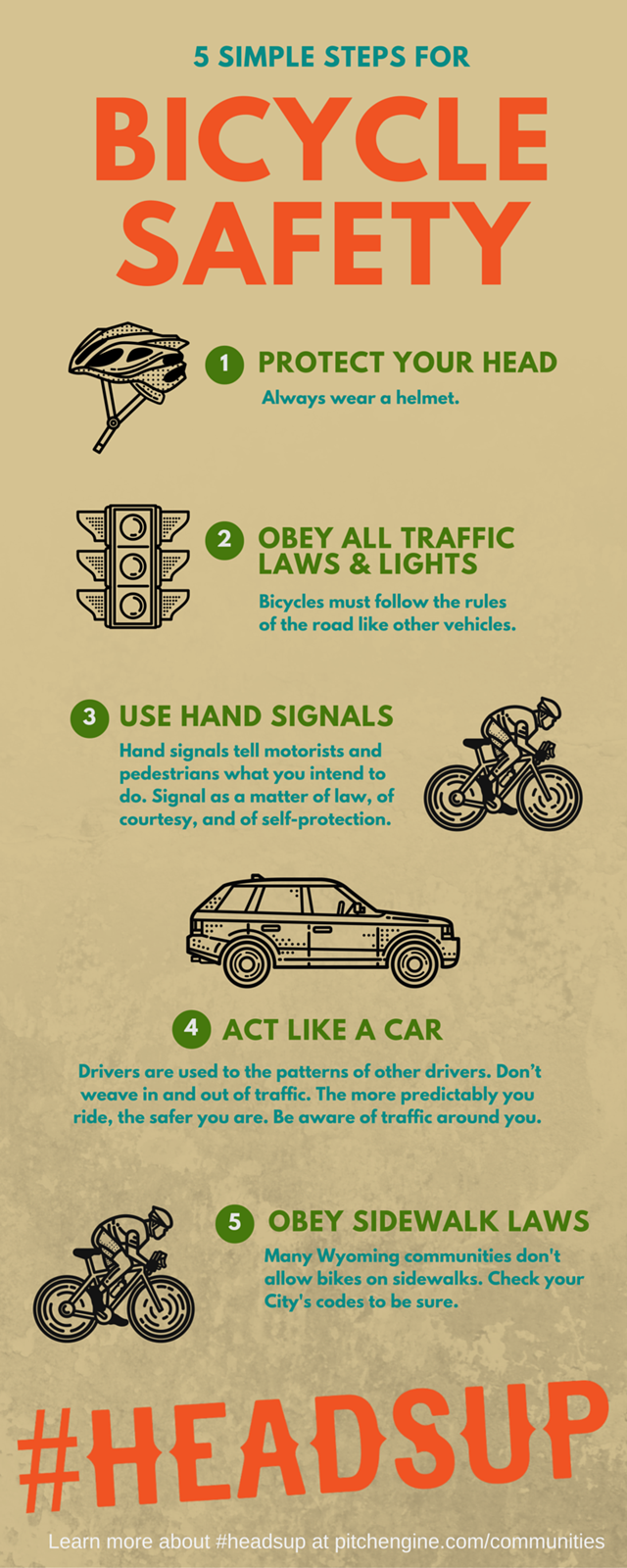 bicycle safety headsup
